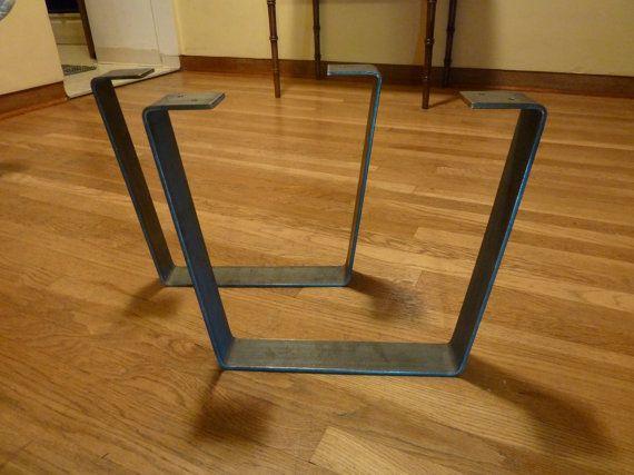 Metal Coffee Table Legs 2 5 In Steel Flat Bar Trapezoid