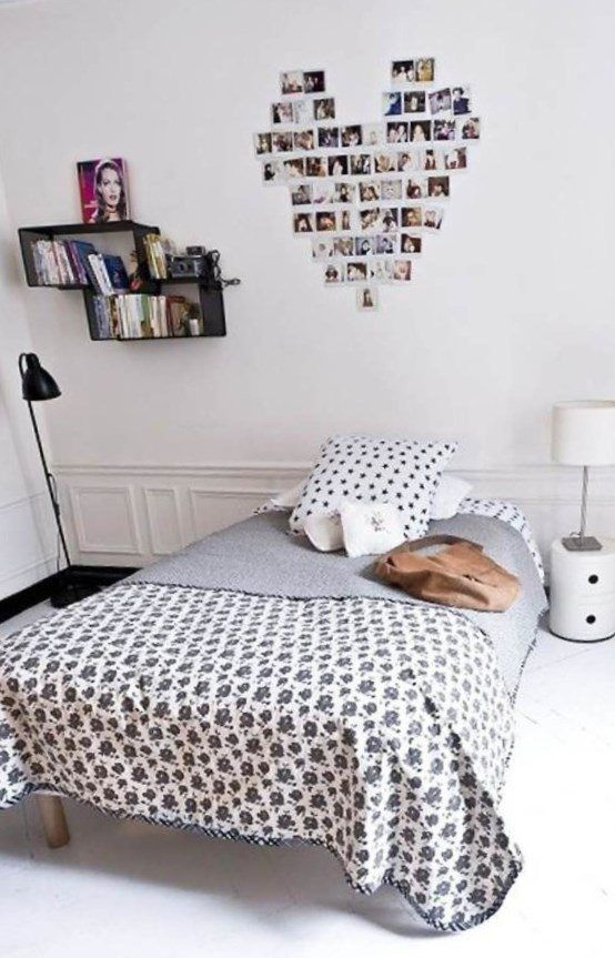 Decoration Breathtaking Easy Ways To Decorate Bedroom With Black Polka Dot  Pillowcases And Wall Mounted Shelving Faux Glue Lanterns