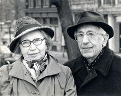 Miep and Jan Gies, the Dutch couple who hid Anne Frank, her sister, Margot Frank,  her parents, Otto and Edith Frank, Hermann van Pels, his wife Auguste, their son, Peter, and Dr. Fritz Pfeffer in a secret attic behind a moveable bookcase. Their profound heroism, the chances they took, the risk to their own lives, their extraordinary loyalty, is truly humbling and remarkable.