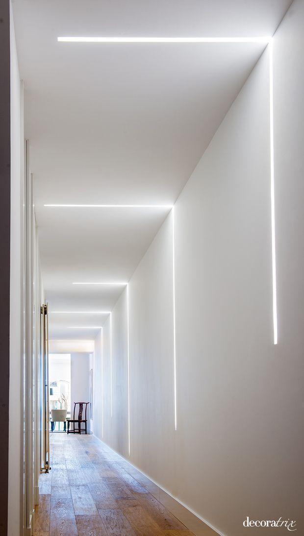 Pasillo Iluminado En Una Casa Reformada Led Hallway Lighting Ceiling Light Design Hallway Lighting