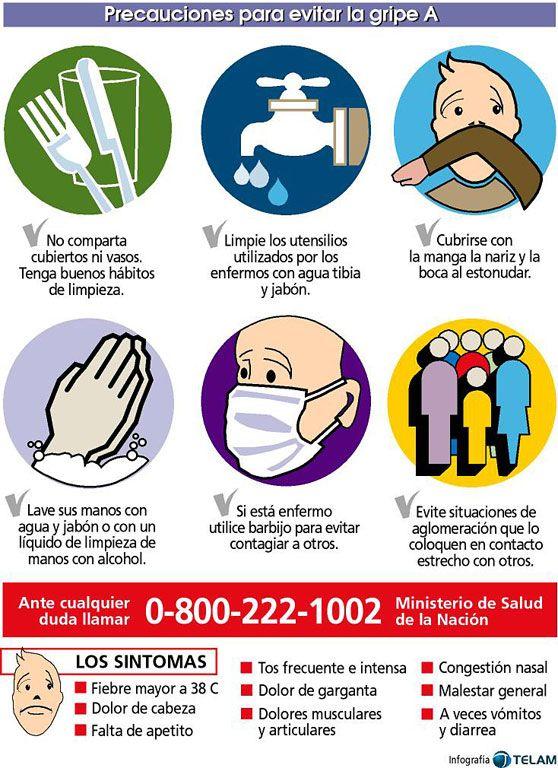 Precauciones para evitar la gripe A -Salud