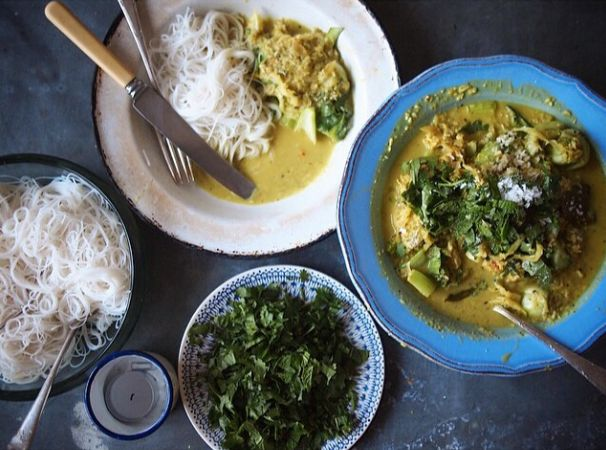 Fresh turmeric free range chicken curry