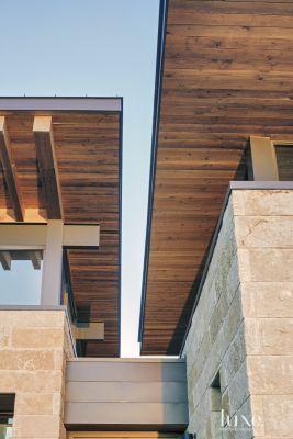 Modern Douglas Fir Butterfly Roof
