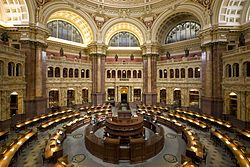 La Biblioteca del Congreso de Estados Unidos (United States Library of Congress en inglés), situada en Washington D. C. y distribuida en tres edificios (el Edificio Thomas Jefferson, el Edificio John Adams, y el Edificio James Madison), es una de las mayores bibliotecas del mundo, con más de 138 millones de documentos.