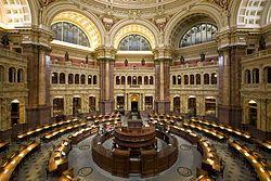 La Biblioteca del Congreso de Estados Unidos (United States Library of Congress en inglés), situada en Washington D. C. y distribuida en tres edificios (el Edificio Thomas Jefferson, el Edificio John Adams, y el Edificio James Madison), es una de las mayores bibliotecas del mundo, con más de 138 millones de documentos.