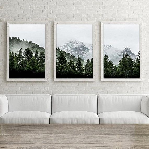 Mountain Wall Art Print Set Of 3 Forest Wall Art Set Of Three Mountain Photography Print Nature Photography Fotografia De Montana Arte Paisajista Fotografia