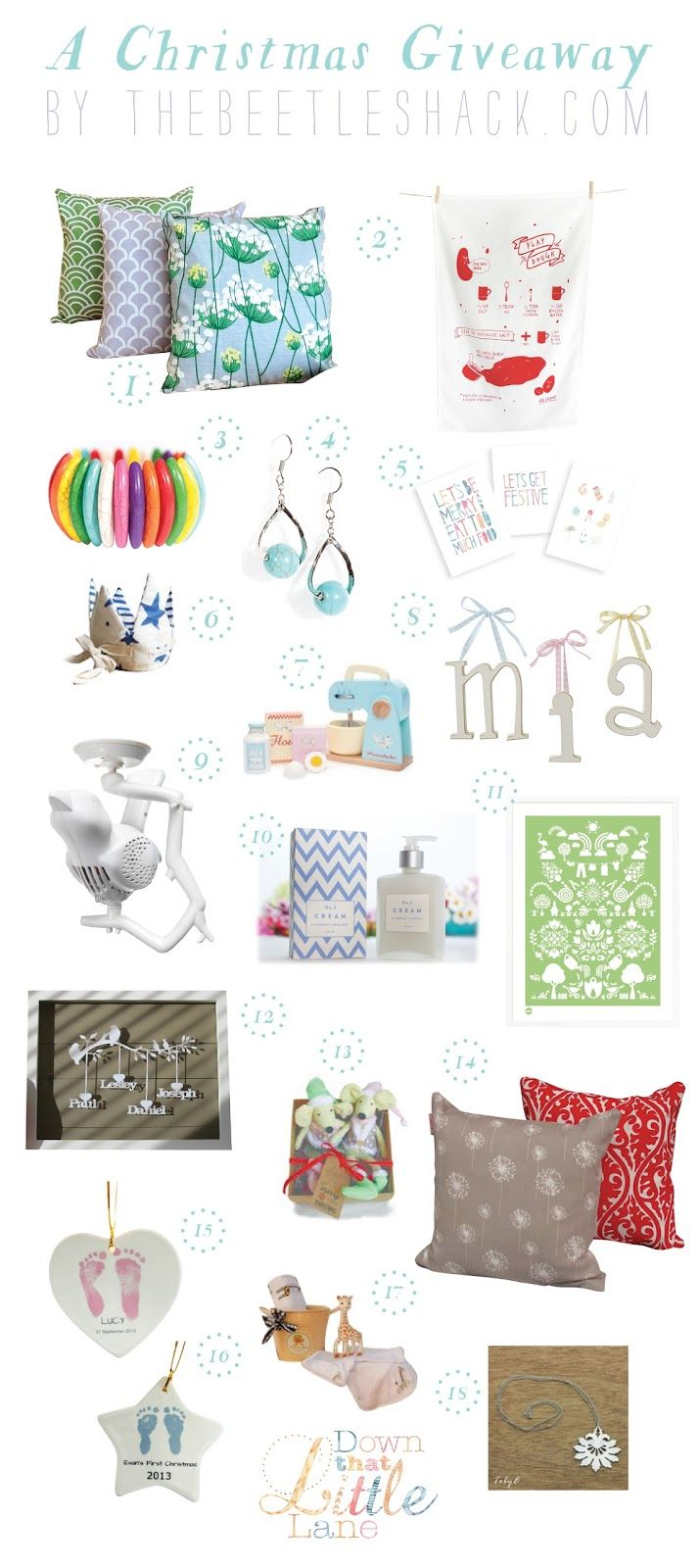 CHRISTMAS GIFT GUIDE AND GIVEAWAY {valued at over $1000}
