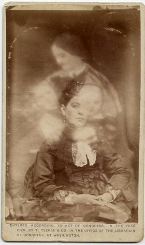 "Victorian Spirit Photography | Victorian era ""spirit photograph."" Images were double-exposed for ..."