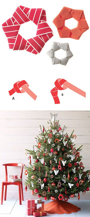 diy christmas tree decoration - link doesn't work but instructions on image seem pretty straight forward