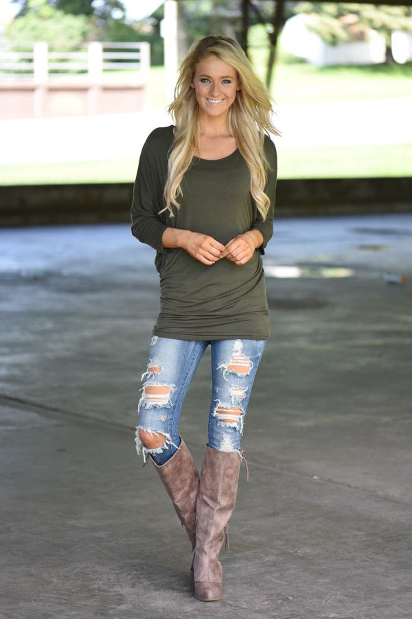 Essential Olive Dolman Top – The Pulse Boutique