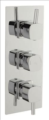 Hudson Reed C P KIA TRIPLE CONCEALED THERMOSTATIC SHOWER VALVE  Finish Chrome