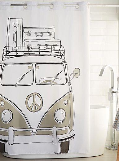 Le rideau de douche camping car