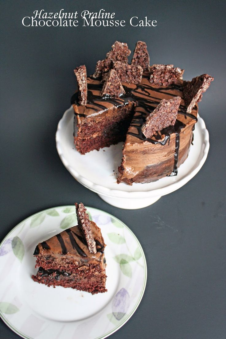 hazelnut praline chocolate mousse cake http://philosophyandcake.blogspot.com/2015/02/vegan-chocolate-hazelnut-cake-with.html