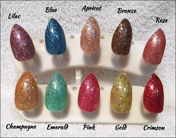 Glitter Nails - photos just don't do justice!  You will be amazed just how sparkly and glamorous these false nails are!