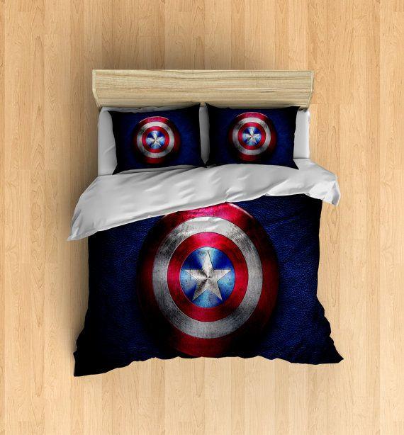 Captain America Bedding  Super Hero Duvet Cover by DesignyLand