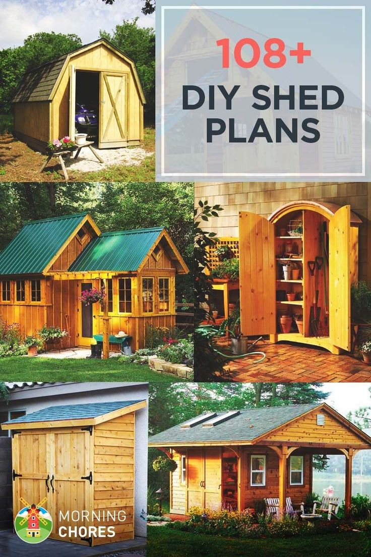#shed #backyardshed #shedplans DIY Shed Plans - Build an storage shed in your backyard with these 108 free DIY shed plans.