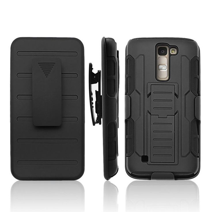 Heavy Duty Shockproof Stand Hard Phone Cases Holster For LG K7 Rugged Impact Belt Clip Holster Cover Phone Case