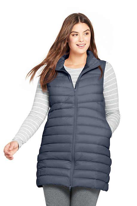 85bd16f1d40 Women s Plus Size Ultralight Long Down Vest Packable