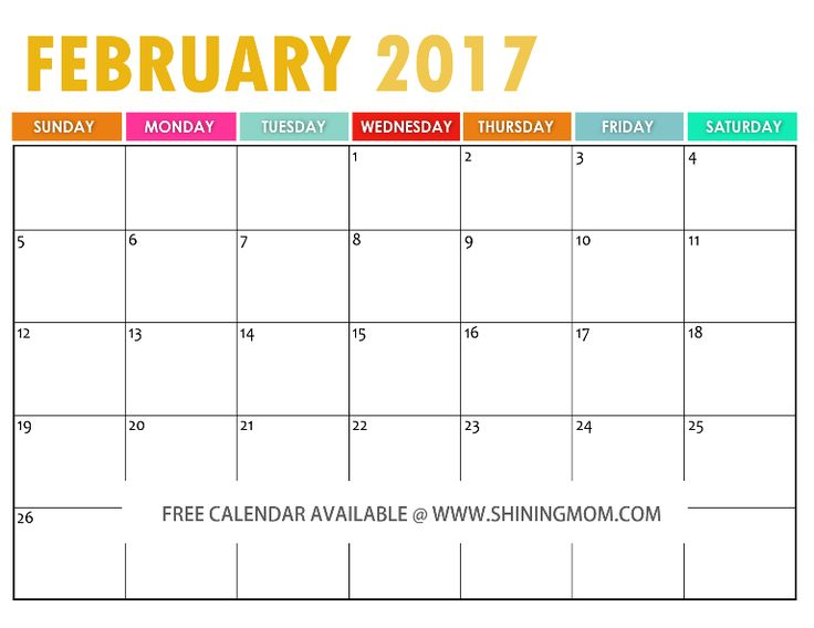 113 Best Free Printable 2017 Calendars By Shining Mom Blog Images