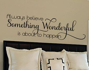 sticker quotes for bedroom walls - Google Search
