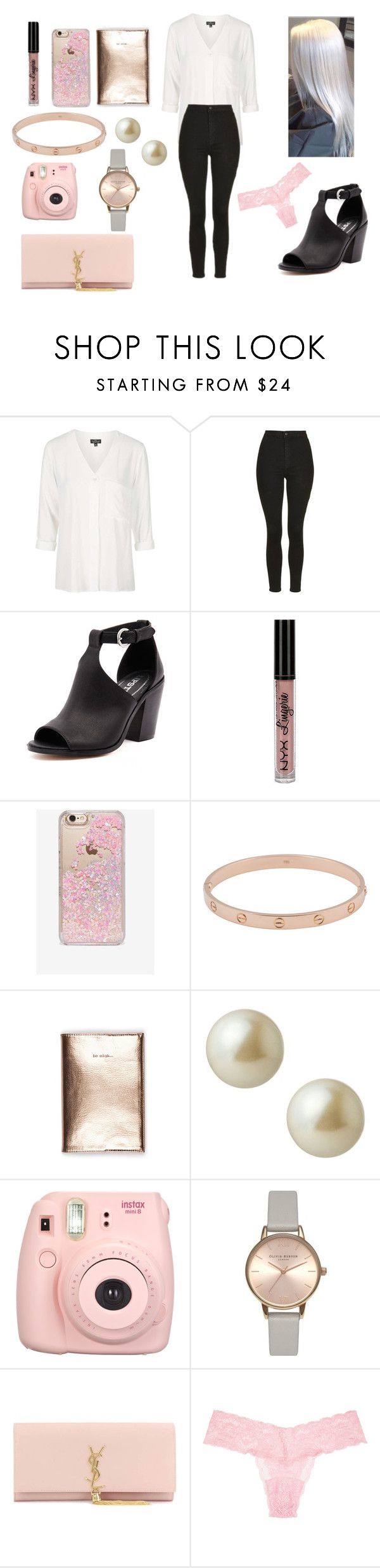 """""""Untitled #239"""" by allgoodbabybaby on Polyvore featuring Topshop, Lipstik, NYX, Skinnydip, Cartier, Carolee, Olivia Burton, Yves Saint Laurent and Cosabella"""