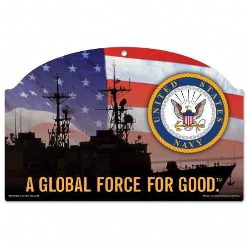 US Navy Flag 11x17 Wood Sign Z157-3208595106