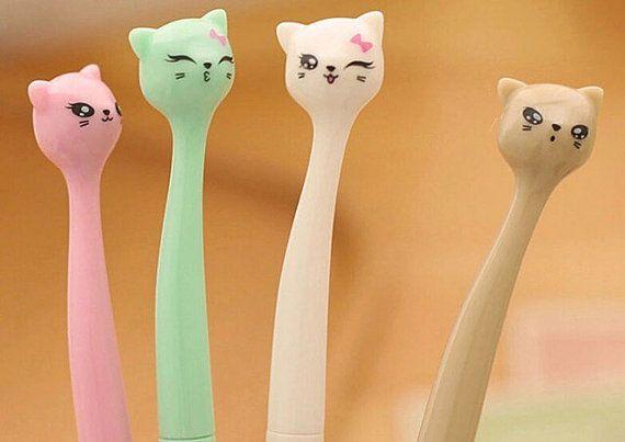 Cat Pen, Kitten Pen, Kawaii Pen, Ballpoint Pen, School Supply, Stationary, Cute Pen, Fine Point Pen, Gel Pen
