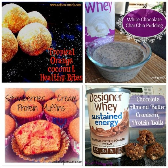 Recipe roundup: 20 different protein recipes in this post from Itz Linz- sponsored by Designer Whey #FitFluentail