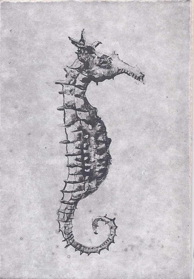 Trudy Rice, Sea horse, Solar plate Etching, $80