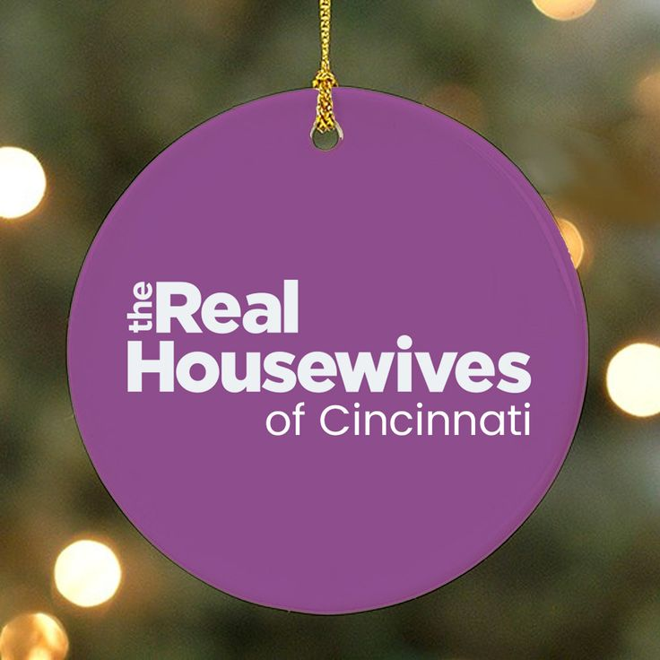 The Real Housewives of Your City Personalized Purple Ornament