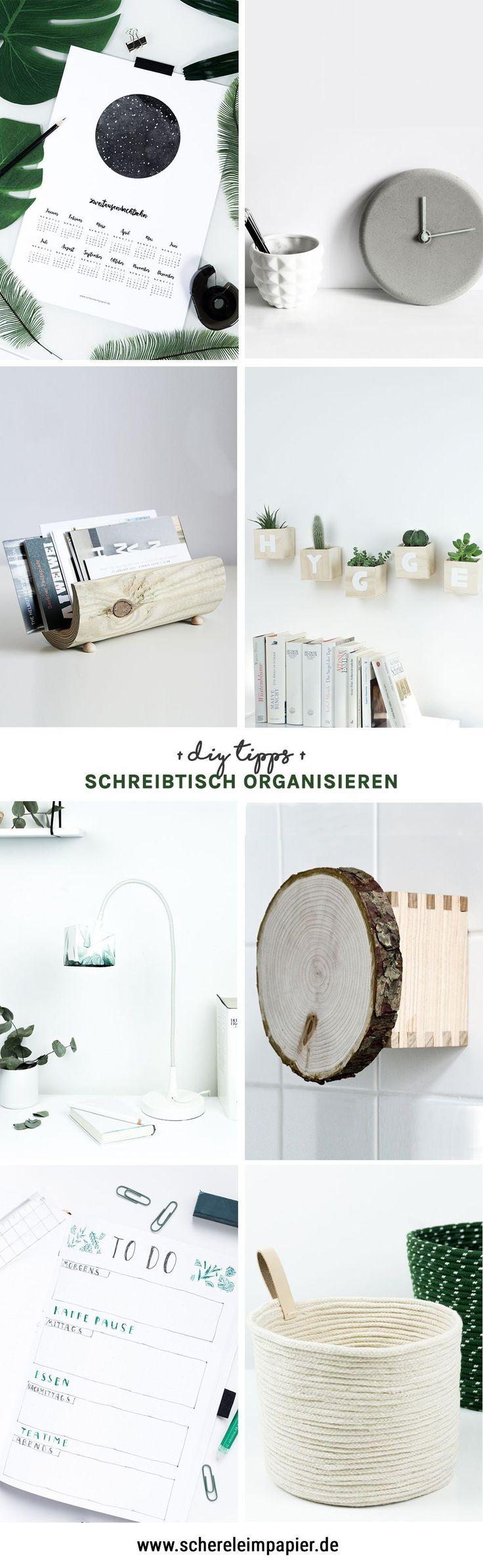 DIY Schreibtisch Organisation 8 hilfreiche Tipps fr