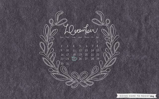 december's desktop calendar is here! made just for you. ♥