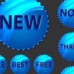 Progetti di badges vettoriali a stampa e per siti web