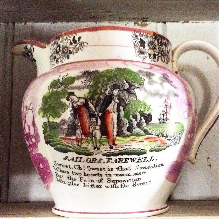 197 vind-ik-leuks, 20 reacties - Jed Jennings (@jenningsjed73) op Instagram: '#Sailorsfarewell#largejug#pinklusterware#sutherlandpottery#'