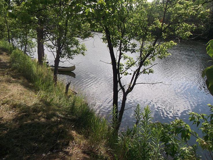 Une autre vue de la rivière Magog...another view of the Magog's  river