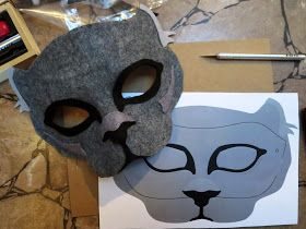 DIY Felt Panther Mask