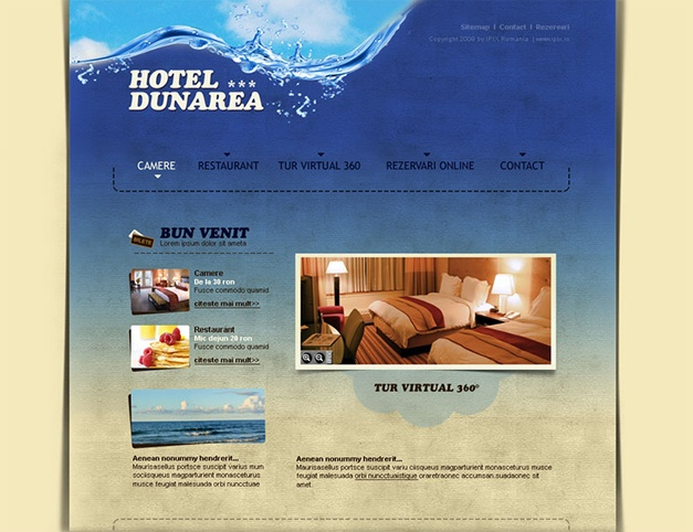 Presentation site for accomodation services offered by Hotel Dunarea.