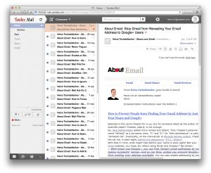 Top 10 Free Email Services 2015: Yandex.Mail