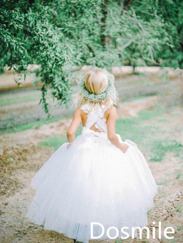 От кутюр квадрат крест-накрест крестики шнуровка белый паффи полная длина бальное платье пачка цветок девочка платье ну вечеринку день рождения театрализованное