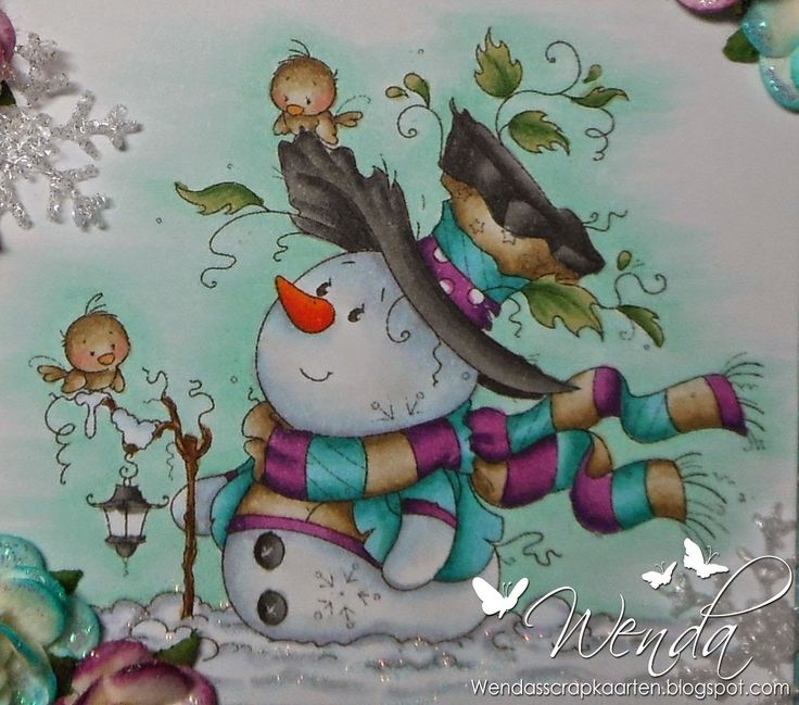 Copic Marker Benelux: Cool Christmas - Snow / Pop: N2 - BV20 - B000 - N0 Background: BG11 - BG10 Green / Blue: BG49 - BG57 - BG13 - BG53 Purple: V09 - V06 - V05 Black: T9 - T7 - ​​T6 - T5 - T4 Brown: E44 - E43 - E42 - E40 Leaves: YG67 - YG65 - YG61