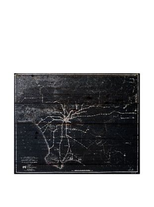 Oliver Gal 'LA Rapid Transit Map 1925' American Reclaimed Wood Wall Art
