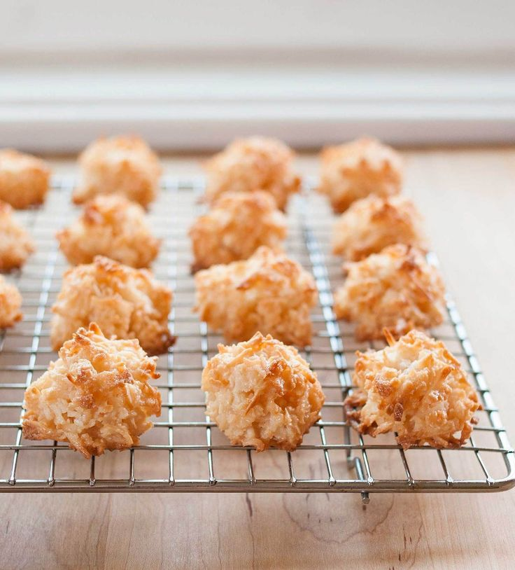 Coconut Macaroons: Passover, 2015. Easy and awesome! Used up the leftover egg yolks to make creme anglaise. WLB | thekitchn.com