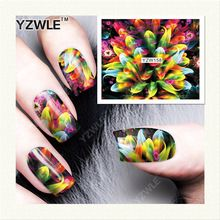 YZWLE 1 Sheet DIY Decals Nails Art Water Transfer Printing Stickers Accessories For Manicure Salon (YZW-158)(China (Mainland))