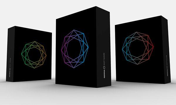 Gemma Software on Behance #gem #jewel #software #tech #technology #italy #diamond #precious #shade #logo #stationery #corporate #identity #packaging #branding #brand #design #book #poster #website
