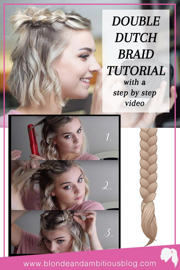 Double Dutch Half Up Braid Tutorial Dutch Braids Short Hair