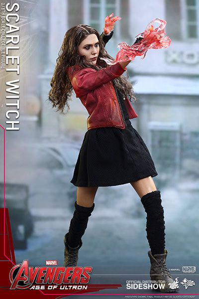 The Hot Toys Scarlet Witch Sixth Scale Figure is available at Sideshow.com for fans of Avengers: Age of Ultron's Elizabeth Olsen as Wanda Maximoff