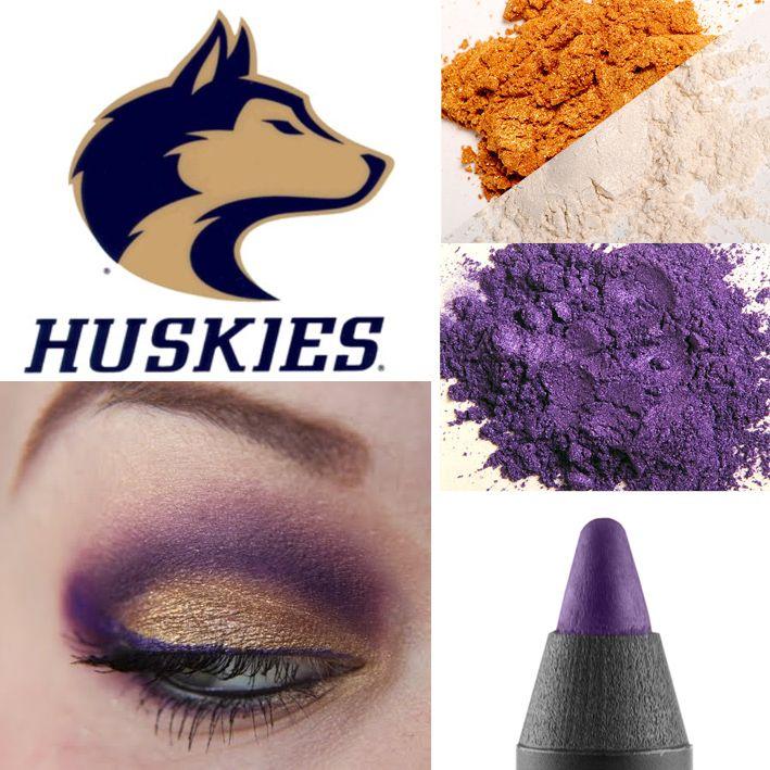 University of Washington (UW) Husky Football makeup! http://www.youniqueproducts.com/perisha