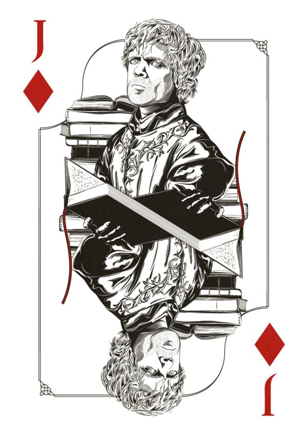 Game of Thrones Playing Cards by Jim Tuckwell