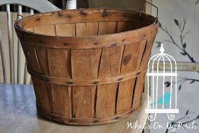 Here are a few projects I've been working on lately.   First up, is an apple basket. I decided to spruce up this vintage basket with a cute ...
