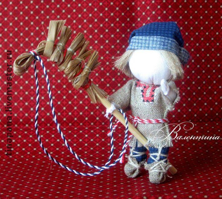 """Купить Авторская кукла """"Сынок"""" - кукла-оберег, народная кукла, ручная работа, натуральные ткани"""